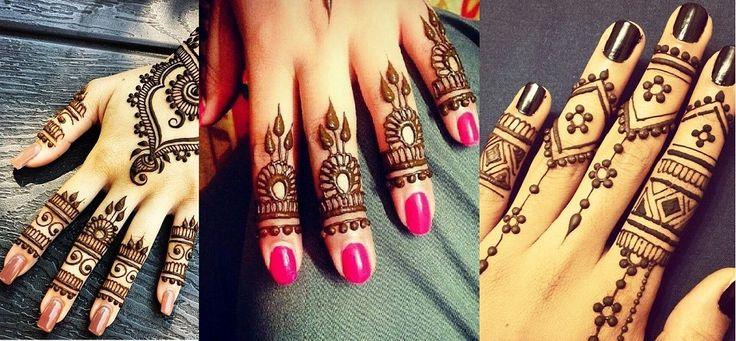 Latest Simple Eid Mehndi Designs Collection 2015-2016