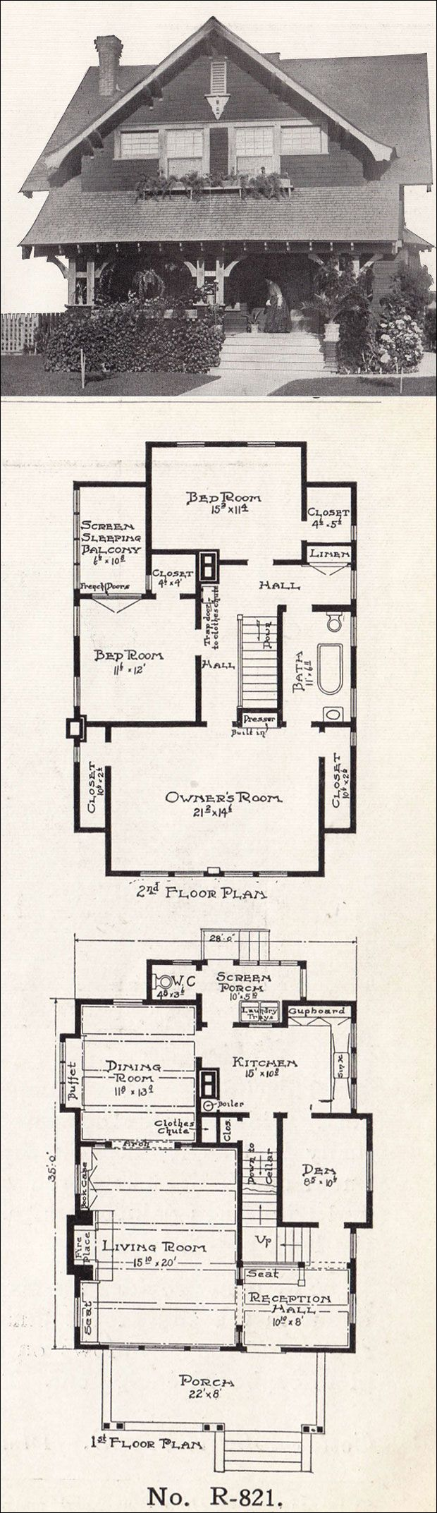 An awesome original bungalow style floorplan.  Wouldn't take much to update it for today.
