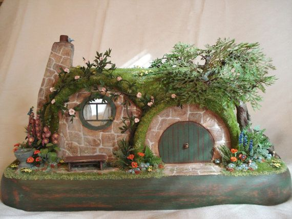 210 best handmade fairy house images on pinterest fairy for Hobbit house furniture