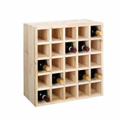 Zeller Present Handels GmbH 13172 Casier à vin en bois tendre 52 x 25 x 52 cm Import Allemagne - Casier à vin en bois tendre Pour 12 bouteilles Empilable Aucun montage nécessa… Voir la présentation