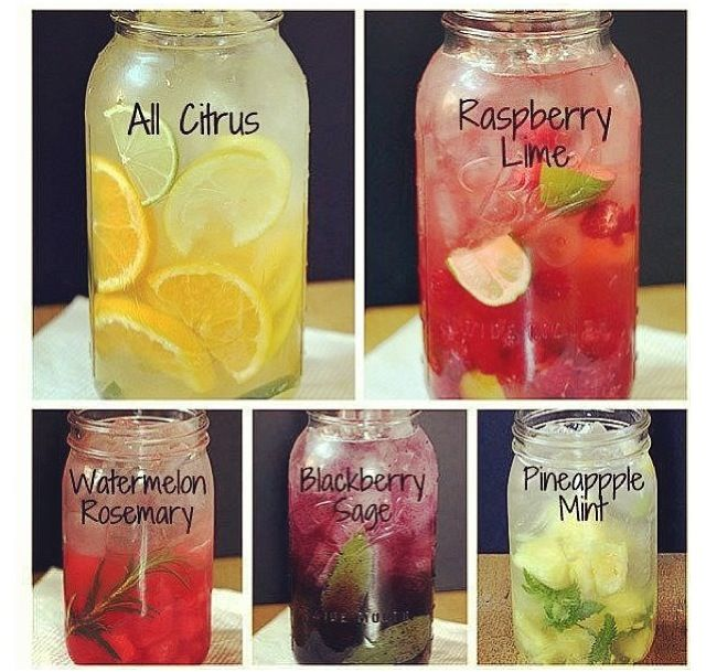 Infused water- interesting combos