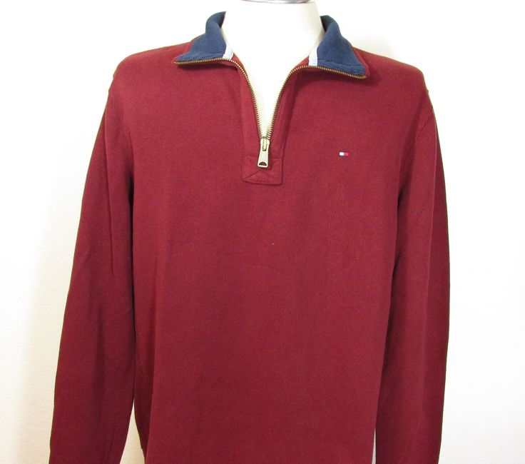 Suéter Masculino Tommy Hilfiger (vinho)                                                                                                                                                                                 Más