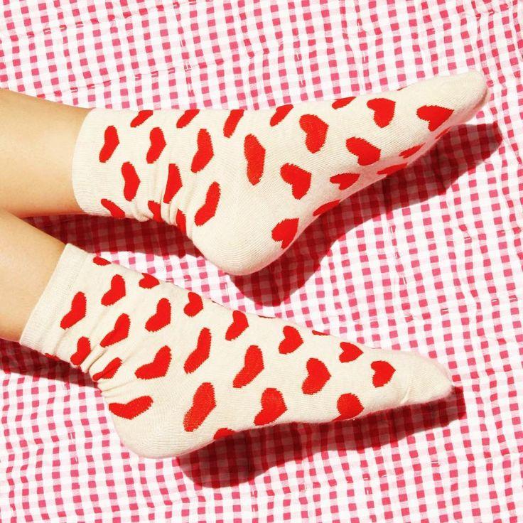 Redcurrent Red Heart Socks $10.00 #redcurrentnz