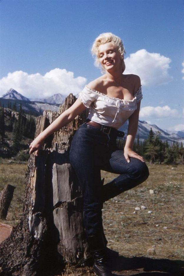 Marilyn as Norma Jean.