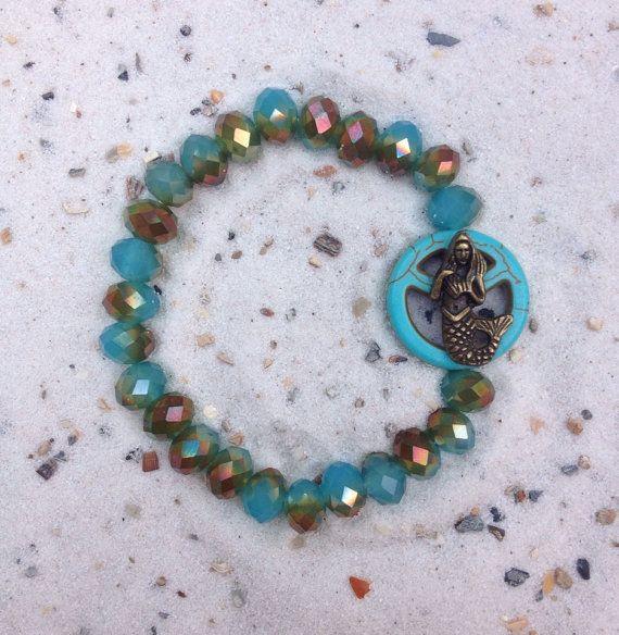 Zeemeermin peace teken armband met prachtige door MrsGypsyJewelry