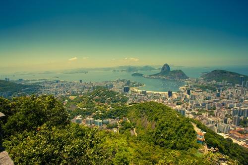 View over Rio de Janeiro and Sugarloaf Mountain