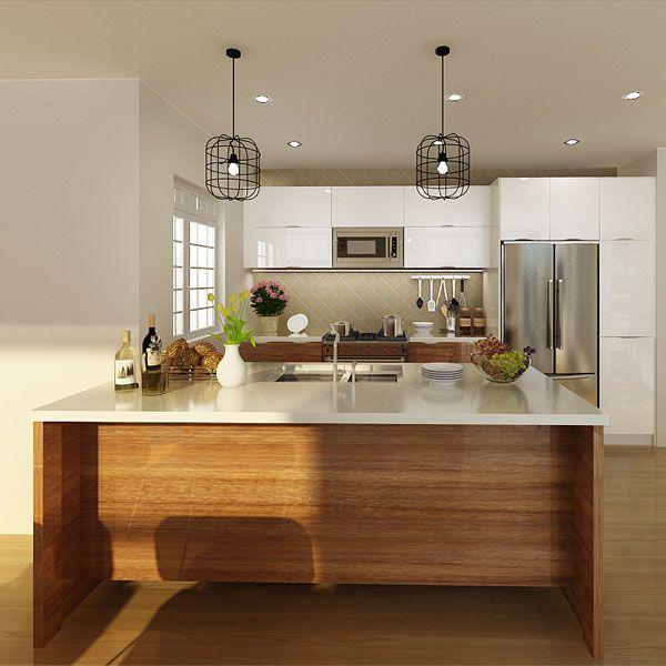kitchen cabinets, PVC, brown, OP14-PVC05