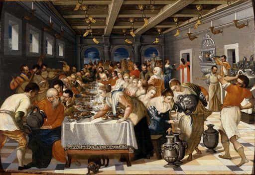 Michele Damaskinos - Le nozze di Cana (1561-1570)   Museo Correr