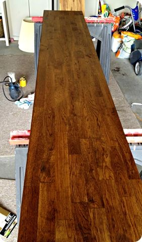 how to stain butcher block @ Thrifty Decor Chick