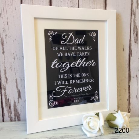 Beautiful gift for Dad Text line at the bottom reads, love you forever & always, (any name)