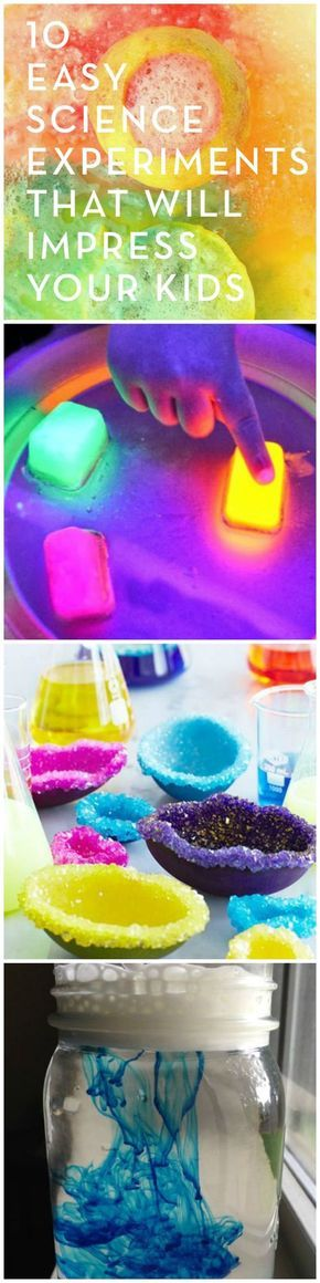 Lemon volcanoes, crystal rainbows, and color clouds -- these fun and easy DIY science experiments will wow the whole family.