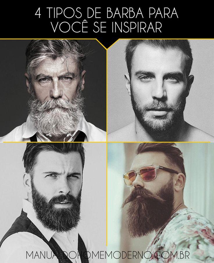 Quatro sugestões de barba para você se inspirar na hora de deixar crescer a sua.