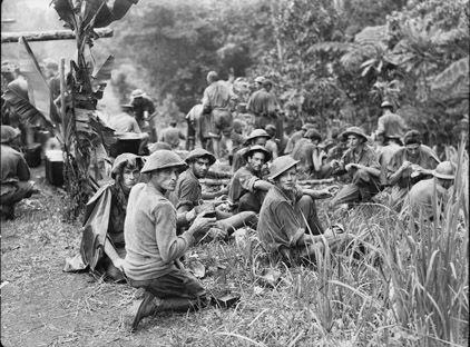 Australian Soldiers on the Kokoda Track, New Guinea WWII.