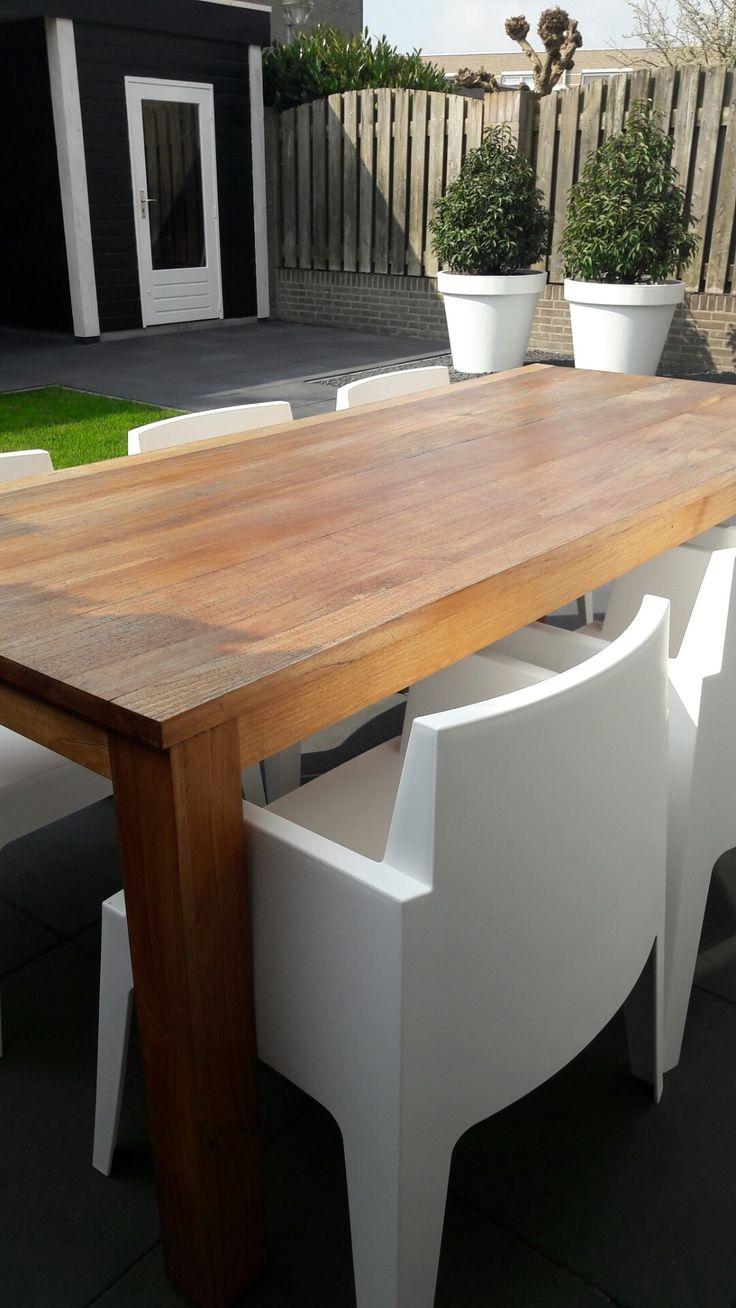 17 beste idee n over witte stoelen op pinterest eettafel stoelen eiken tafel en interieurs - Tafel en witte stoelen ...