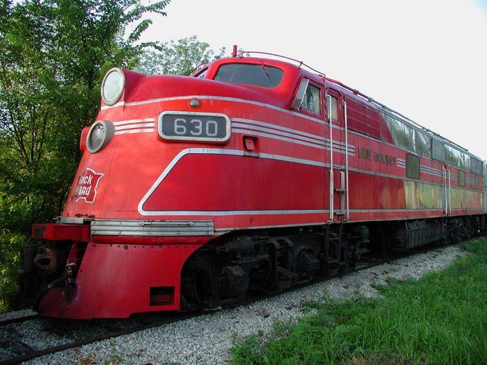 Rock Island EMD E Unit Diesel Locomotive.