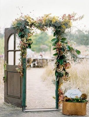 Wedding door frame