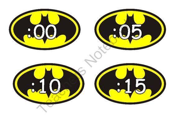 Batman Clock Numbers. A great addition to your Super Hero themed classroom.