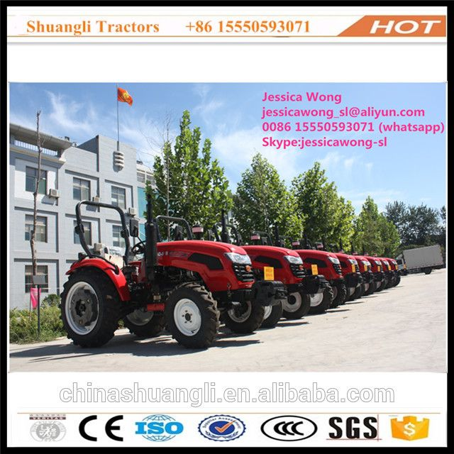 Chinese second hand tractor 60hp 4wd for farming tractors