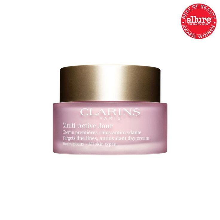 With nonstop hydration and potent antioxidants, Clarins Multi-Active Jour keeps skin in constant repair mode.