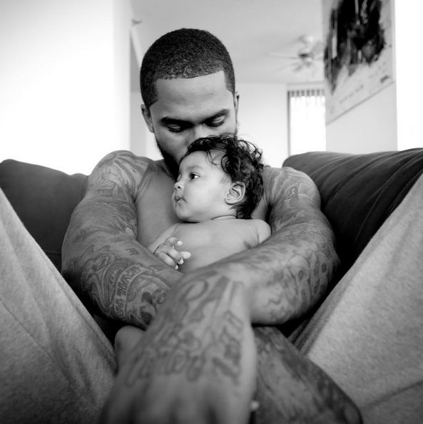 Dave East and his daughter, Kairi