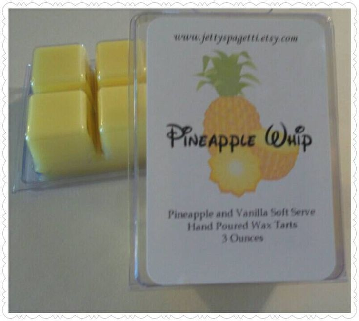 Pineapple Whip Scented Wax Tarts- Clamshell tarts -Pineapple and Vanilla Soft Serve Scent by FandomsFairytales on Etsy https://www.etsy.com/listing/234094302/pineapple-whip-scented-wax-tarts