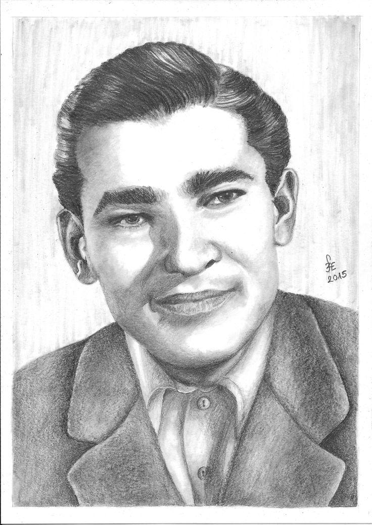 Pencil drawing portrait Soós Imre by Erika Székesvári https://www.facebook.com/ercziart/
