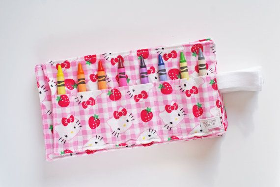 Hello Kitty Crayon Rolls Set of 10 Party Favor by TenCowQuilts