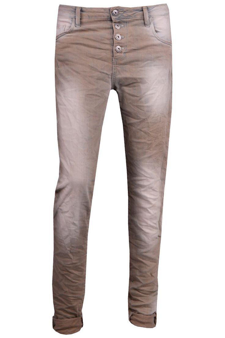 #Maryley gekleurde 5-pocket jeans met gebleekt effect #denim #trend #fall16 #fashion #fashiontrends #jeans #trousers