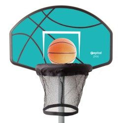 In-ground Trampoline Basketball Hoop