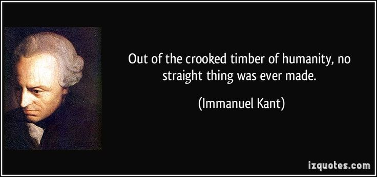 Immanuel Kant (German: [ɪˈmaːnu̯eːl kant]; 22 April 1724 – 12 February 1804) was a German philosopher who is widely considered to be a central figure of modern philosophy.    http://crookedtimber.org/