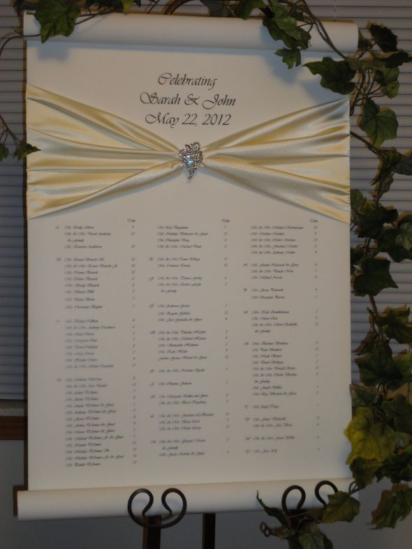 Seating Chart For Wedding Reception Wedding Gallery