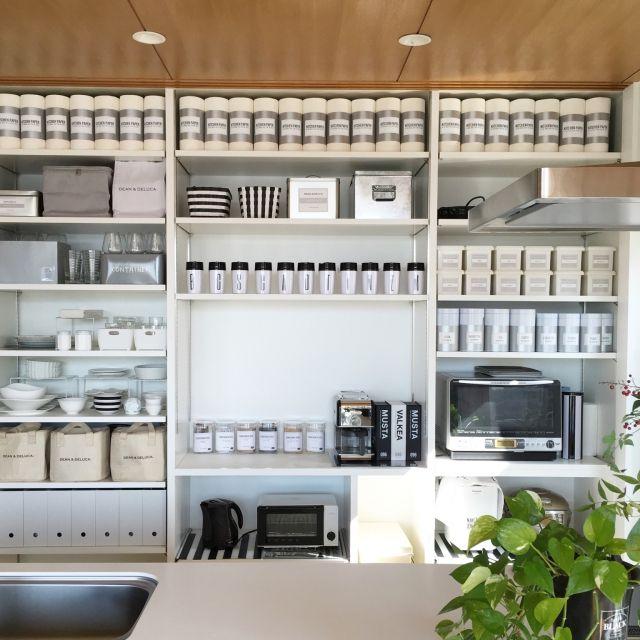 hiroさんの、キッチン,キッチン収納,収納,自作ラベル,ラベル,セリア,ダイソー,イケア,キッチン,のお部屋写真