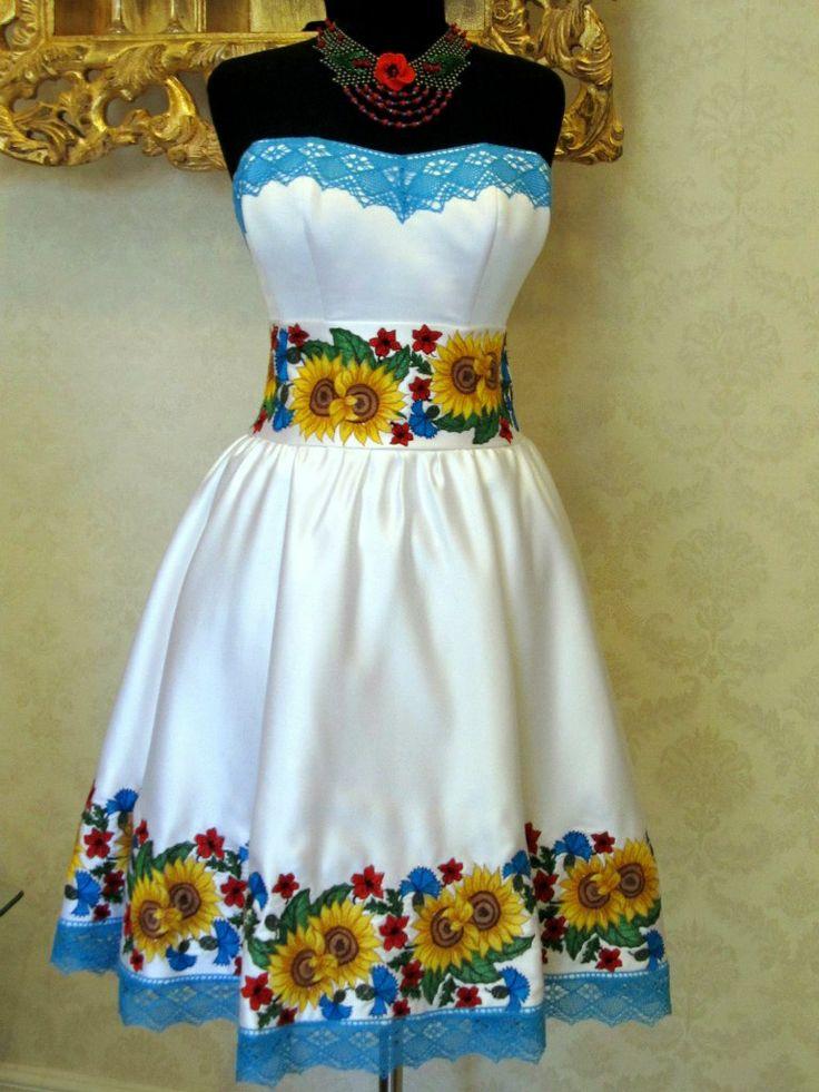 Вышитые платья в харькове