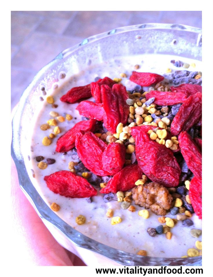 Chia Breakfast for Kings (with mulberries)