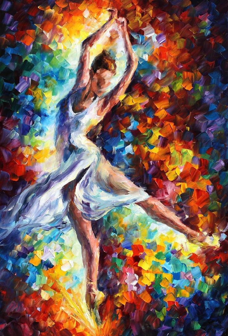 CANDLE FIRE DANCE — PALETTE KNIFE Oil Painting On Canvas ...