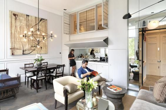 Living the high life: mezzanine floor and clever design tricks have transformed this small Earls Court flat into a spacious home