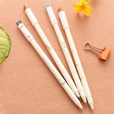 New 6Pcs Kawaii Black 0.38mm Gel Ink Pens Roller Needle Pen Fine Cat Korean