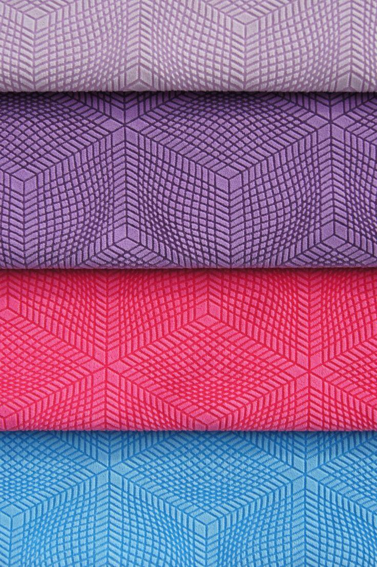 Futuristic fabrics from Karim Rashid. Collection Globalove available at Dekoma. #microfibres #performancefabrics #printingtechnology #easytocleanwithsoapandwater