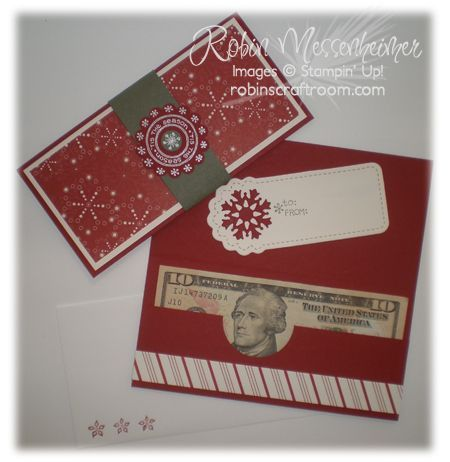 Robin's Craft Room: Countdown to Christmas! Day 5: Sending Money? Quick Card! - PDF tutorial to download