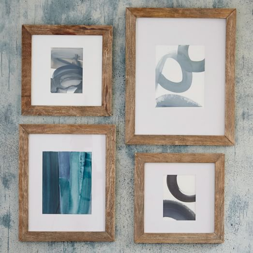 Gallery Frames - Weathered Wood | west elm; LOVE these frames...