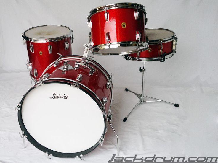 1967 vintage ludwig downbeat red sparkle drum set on sale ludwig vintage pinterest sparkle. Black Bedroom Furniture Sets. Home Design Ideas