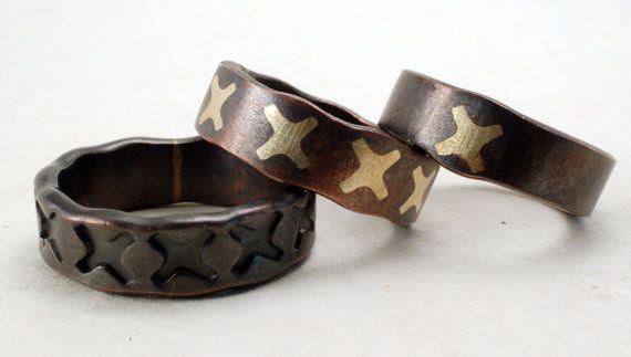 ANILLO de cobre  arquitectónico anillo  anillo de cobre  X