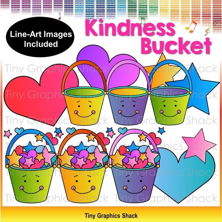 Free clipart: random acts of kindness, character education, have you filled your bucket today?