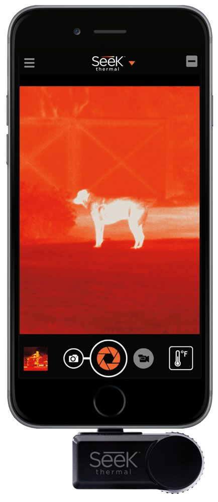 Seek Compact Turns Your Smartphone Into A Thermal Imaging Camera To See Heat Up To 1,000 Feet Away -  #heat #smartphone #thermal