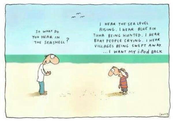 Seashell via Michael Leunig Appreciation Page (facebook)