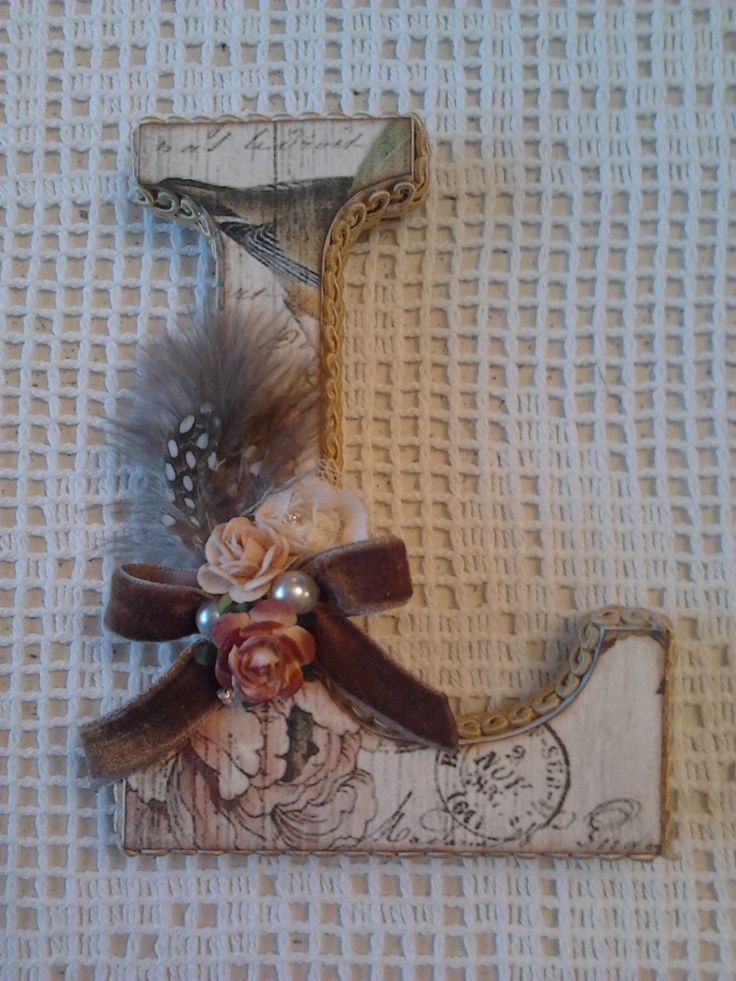 Lace & Pearls Handmade Creations* Altered Letter <3