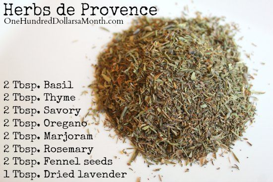 DIY Herbs de Provence Recipe and links to many other high end herb you buy at stores. Plus there is a section for making your own dips and dressings.