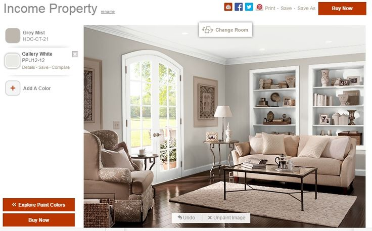 Behr Paint Grey Mist Hdc Ct 21 Amp Gallery White Ppu12