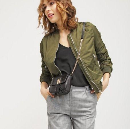 Topshop BRUCE bomberka khaki Kurtka przejściowa khaki/olive bomber jacket