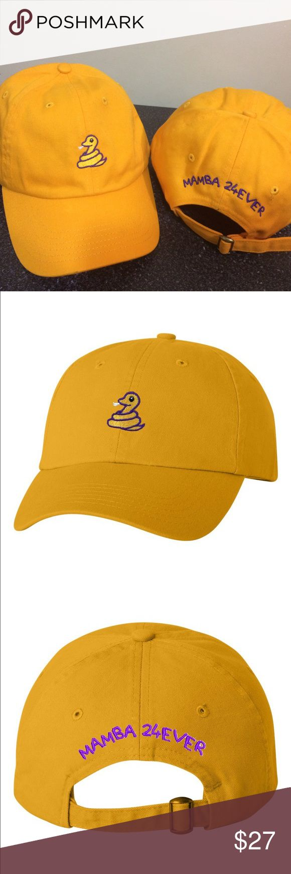 Mamba 24 Ever Kobe Bryant Adjustable Dad Cap - Hat Unisex Stitched/Embroidered Adjustable strap for a perfect fit.   (Due to dye and wash process there may be some slight variation in color and sizing) If you have any further questions just contact us and we will be happy to assist you! Value Cap Accessories Hats